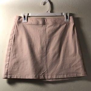 Blush Mini Skirt with silver zipper Size Medium